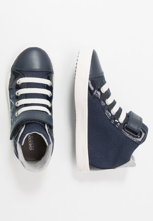 GISLI GIRL - Sneaker high - navy/turquoise