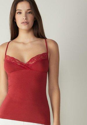 MIT SPITZE - Undershirt - rosso