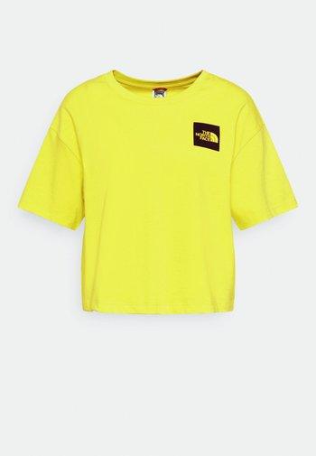 CROPPED FINE TEE - Print T-shirt - sulphur spring green
