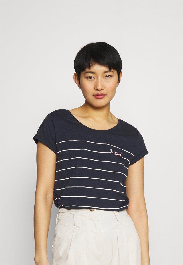 VALENTINE - Print T-shirt - dark blue