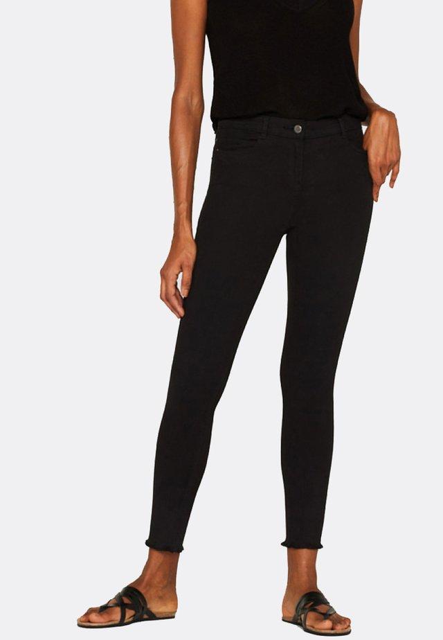 MIT FRANSENSAUM - Jeans Skinny Fit - black