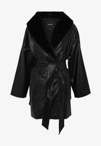 Monki - ILMA JACKET - Chaqueta de cuero sintético - black dark - 4