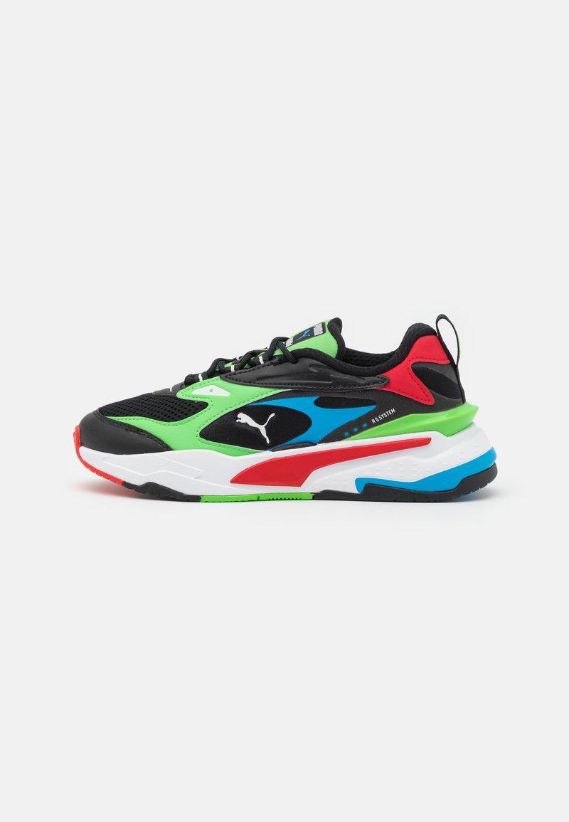 Puma - FAST - Sneakers laag - black/elektro green/high risk red
