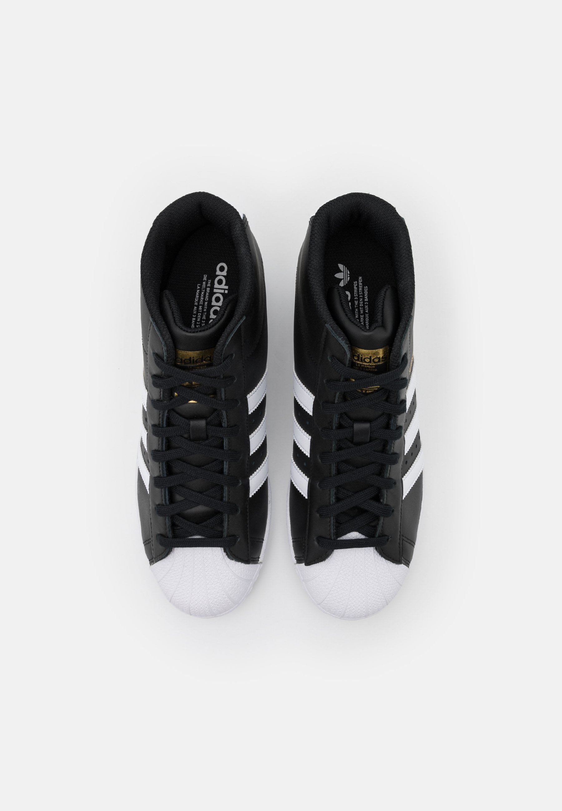 SUPERSTAR SPORTS INSPIRED MID SHOES - Baskets montantes - core black/footwear white/gold metallic