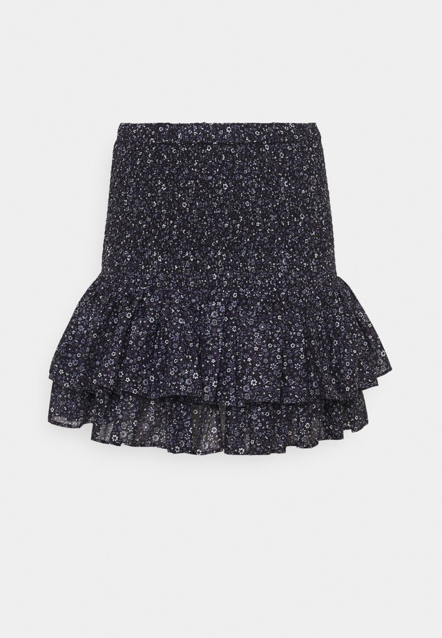 TINY HIPPIE SKIRT - Mini skirt - deep purple