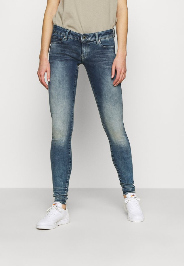 3301 LOW SUPER SKINNY - Skinny džíny - antic faded kyanite