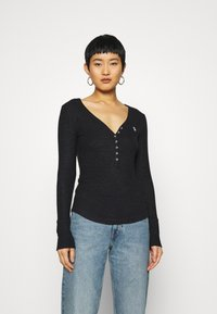 Abercrombie & Fitch - COZY HENLEY - Jumper - black - 0