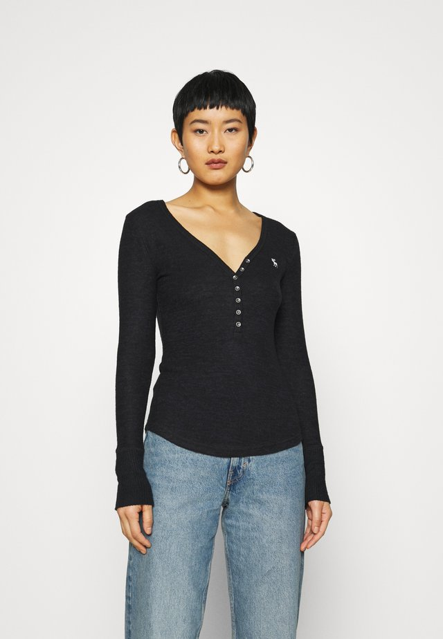 COZY HENLEY - Pullover - black