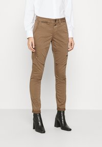 Mos Mosh - VALERINE CARGO PANT - Trousers - brown - 0