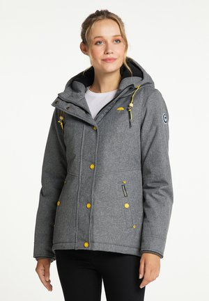 Winter jacket - dunkelgrau melange