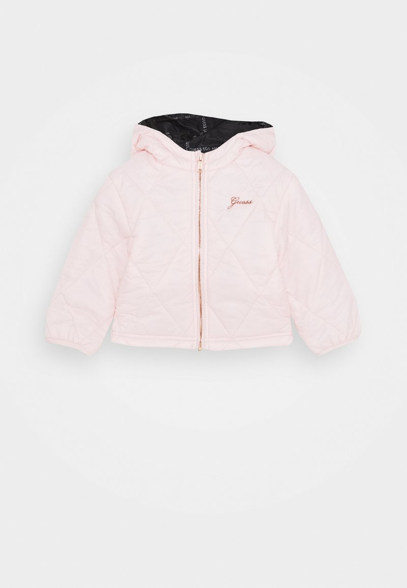Guess - PADDED HOODED REVERSIBLE BABY - Light jacket - pink sky