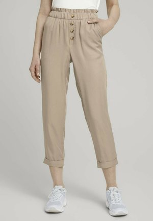 Trousers - dune beige