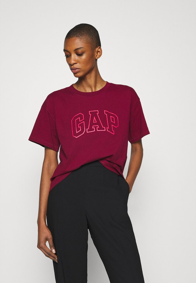 EASY TEE - T-shirt z nadrukiem - garnet
