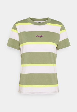 HIGH REGULAR TEE - T-shirts med print - oil green