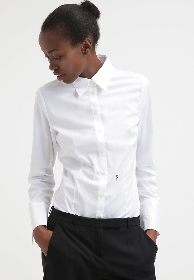 Komfortable Slim - Button-down blouse - white