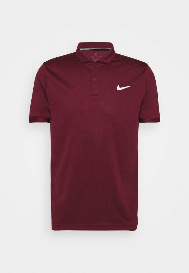 T-shirt sportiva - dark beetroot/white
