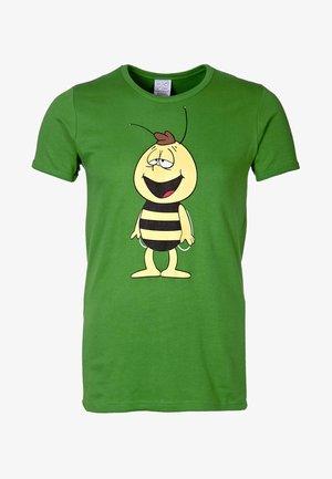 BIENE MAJA - WILLI - Print T-shirt - light olive