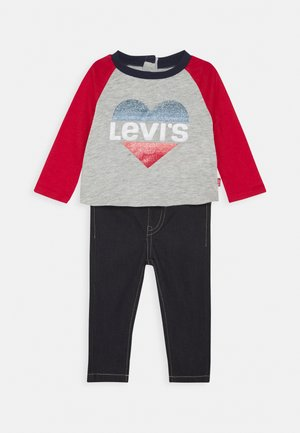 COLORBLOCK RAGLAN SET - Straight leg jeans - light gray heather