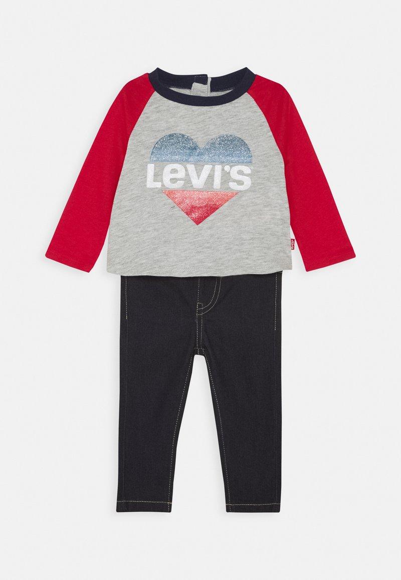 Levi's® - COLORBLOCK RAGLAN SET - Džíny Straight Fit - light gray heather