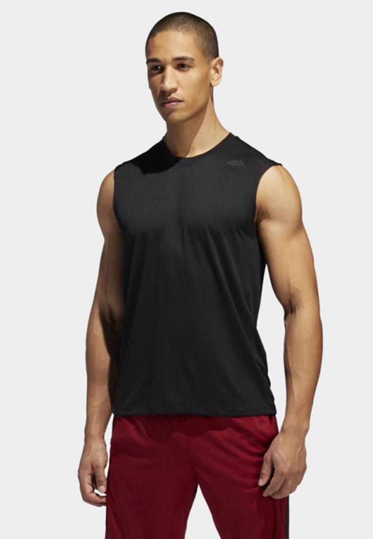 adidas Performance - FREELIFT TECH CLIMACOOL 3-STRIPES TANK TOP - Linne - black