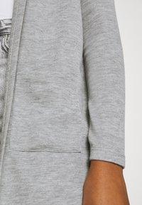 Vero Moda - VMAMAI OPEN HOOD CARDIGAN - Cardigan - light grey melange - 4