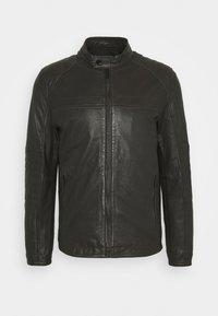 Strellson - DRIVER - Leather jacket - dark brown - 7