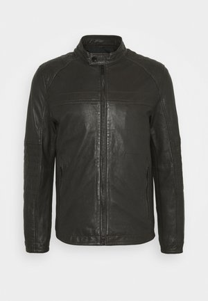 DRIVER - Leather jacket - dark brown