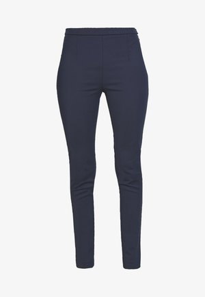 HIGH WAIST PANT - Pantaloni - navy