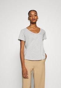 Anna Field - Basic T-shirt - mottled light grey - 0