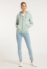 Schmuddelwedda - Zip-up sweatshirt - rauchmint melange - 1