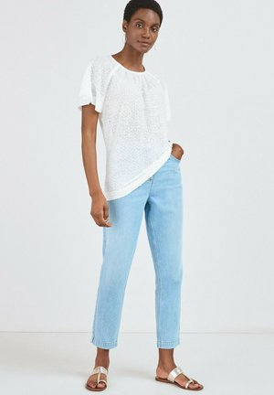 SEQUIN FLUTE  - Print T-shirt - white
