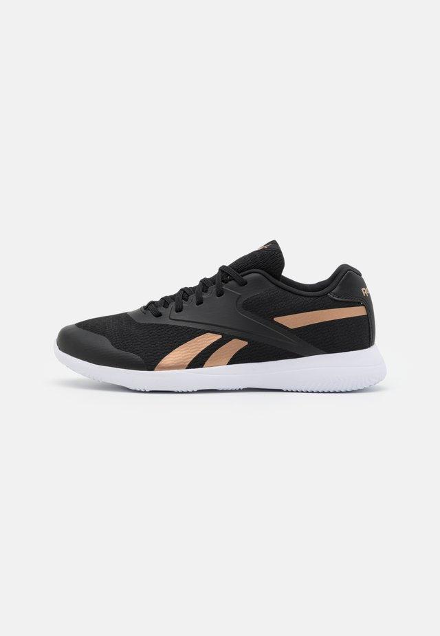 STRIDIUM - Sportieve wandelschoenen - core black/footwear white/golden bronze
