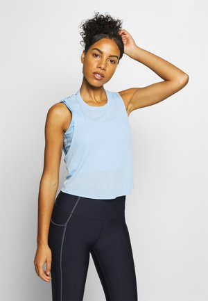 CROSS BACK TANK - Topper - skye blue marle