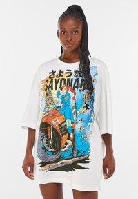 Bershka - Print T-shirt - white - 5