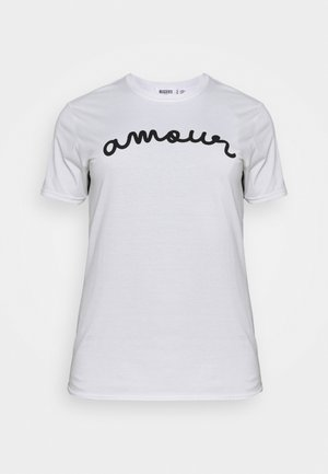 AMOUR GRAPHIC SLOGAN - T-shirt con stampa - white