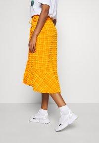 Monki - LANE SKIRT - Wrap skirt - orange - 3