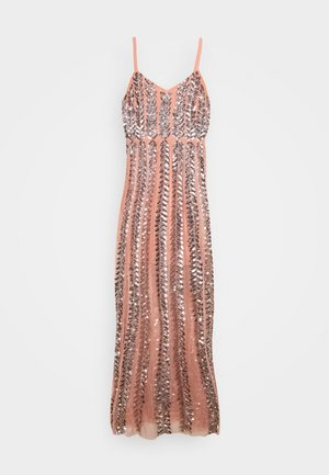 ALL OVER EMBELLISHED CAMI MAXI - Ballkleid - coral
