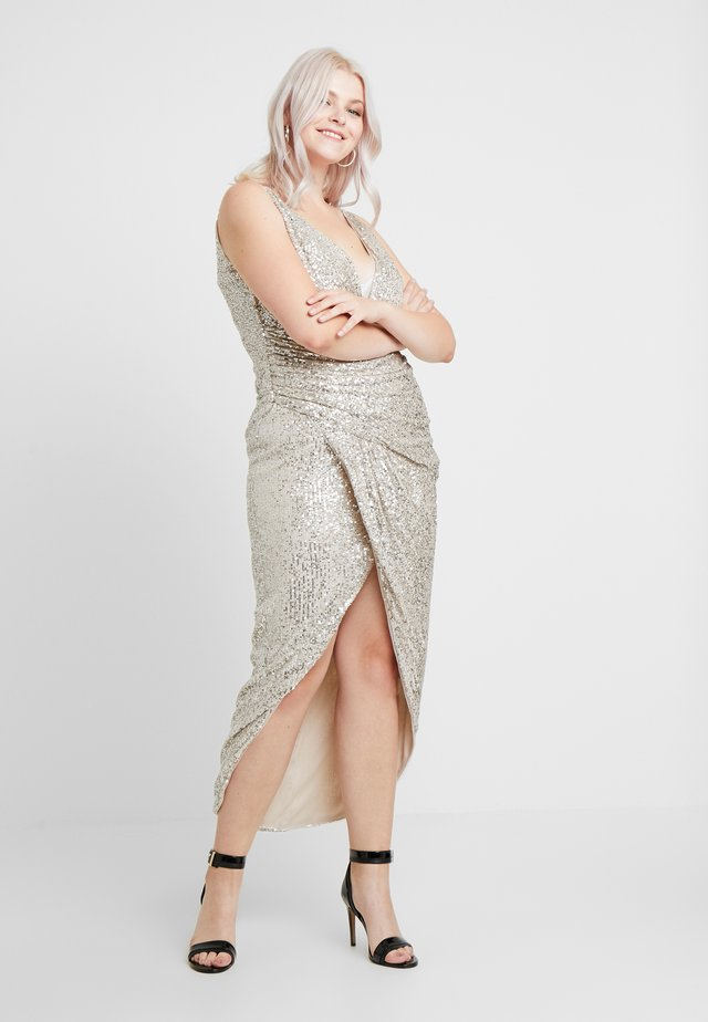 SABBIA MAXI - Společenské šaty - nude/silver