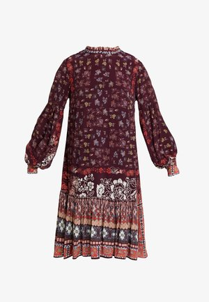 PRINTED DRESS - Day dress - brown red