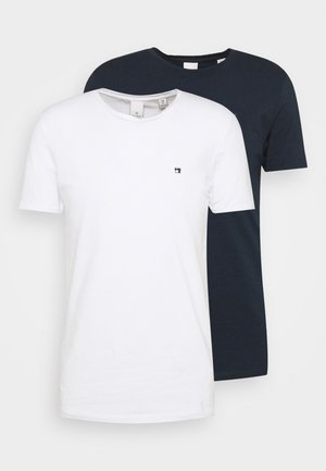 LOGO TEE 2 PACK - T-shirt basic - dark blue/white