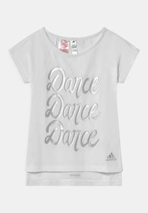 DANCE - Camiseta estampada - white/silver
