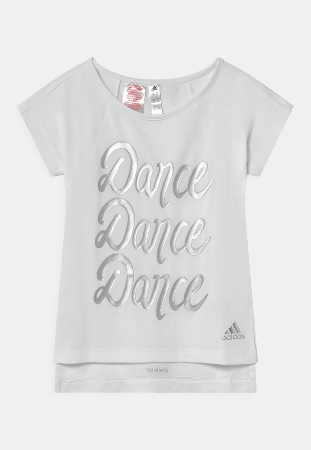 DANCE - T-Shirt print - white/silver