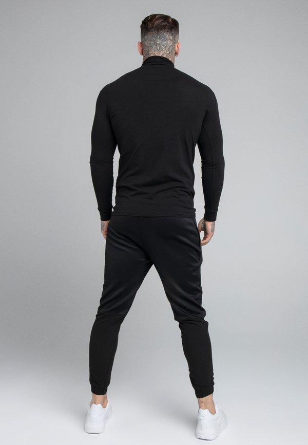 SIKSILK SIKSILK TRANQUIL TURTLE NECK TEE - Bluzka z długim rękawem - black/czarny Odzież Męska KDLN