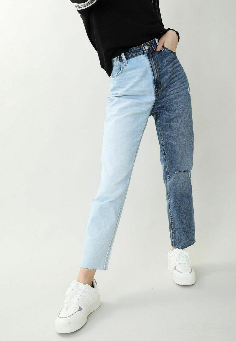Pimkie - PIMKIE  - Straight leg jeans - denimblau