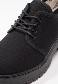 Victoria Shoes - ZAPATO LONA PISO - Kotníková obuv - black - 6