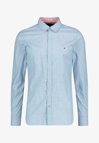 Tommy Hilfiger - SLIM DOTTED SQUARE PRINT - Shirt - blau - 0
