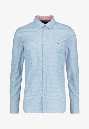 SLIM DOTTED SQUARE PRINT - Shirt - blau