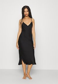 Anna Field - SIMPLE LONG LINE NIGHTIE  - Negligé - black - 0
