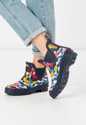 Gummistøvler - marineblau floral