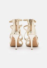 Buffalo - MERCY - High heeled sandals - light gold - 3